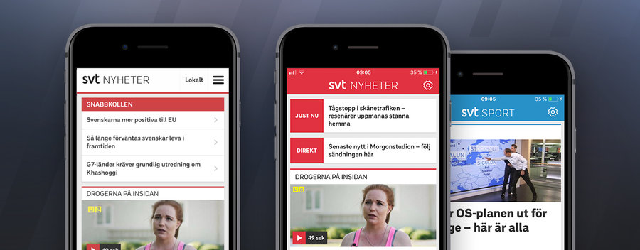 App Developer for SVT News and Sport in Stockholm