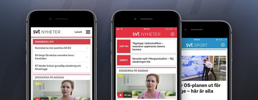 UX-designer till SVT Nyheter och Sport:s app-team